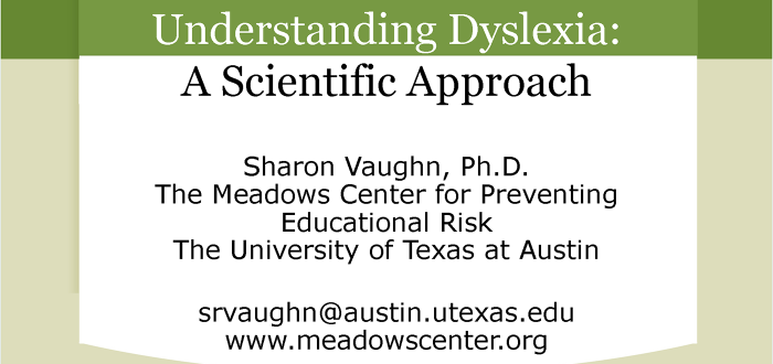 A Scientific Approach to Dyslexia Photo